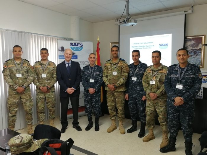 SAES receives the visit of Egyptian officers